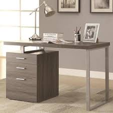 File Cabinet With Drawers Modern Design Home Office Weathered Grey Writing Computer Desk