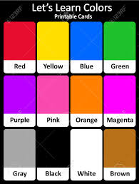 Orange Colors Names Printable Flash Card Colletion For Colors And Their Names For
