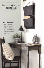 small desk plans free diy farmhouse writing table writing table easy and free