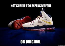 Nike Meme - not sure if too expensive fake or original nike lebron x quickmeme