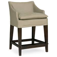 Adams Office Furniture Dallas by Layla Grayce Normandy Slipcovered Campaign Counter Stool Layla