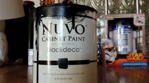 nuvo black cabinet paint review part 1 youtube