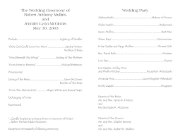 template for wedding program program template 3