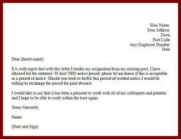 nursing resignation letter resignation letter format practical
