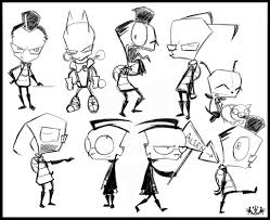 zim dib gir sketches by metros2soul on deviantart
