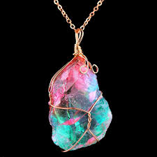 crystal quartz necklace pendant images Rainbow quartz crystal necklace treasure fan jpg