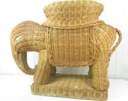 Elephant Side Table Vintage Elephant Table Etsy