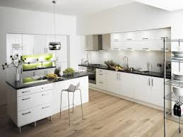 attractive wooden kitchen island in white finishing with black