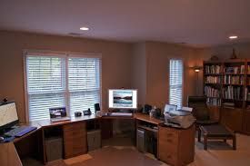 home office two desks two person desk home office with carpet