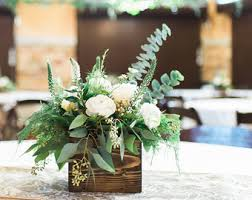 Wood Box Centerpiece by Rustic Wood Centerpiece Wedding Centerpiece Reclaimed Wood