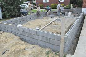 how to build a concrete block house how to build a concrete block foundation one project closer