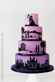 wedding cake essex ombré silhouette wedding cake cakes by natalie porter
