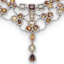 color diamond necklace images Colored diamonds incredible brown diamond indian wedding necklace jpg