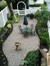 ideas gravel patio pea pebble patio diy pebble patio