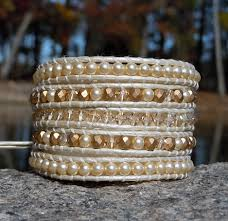 crystal leather wrap bracelet images Swarovski crystal pearl leather wrap bracelets onsra designer jpg