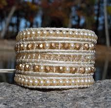 crystal pearl bracelet swarovski images Swarovski crystal pearl leather wrap bracelets onsra designer jpg