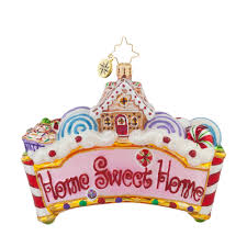 Radko Halloween Ornaments Radko 1017776 Home Sweet Home Gingerbread House U0026 Candy Ornament