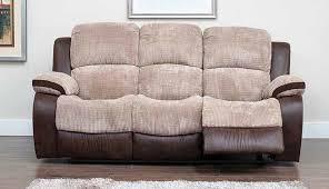 Recliner 3 Seater Sofa Milton 3 Seater Reclining Fabric Sofa Beige