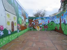 graffiti murals garden wall graffiti mural in south bristol