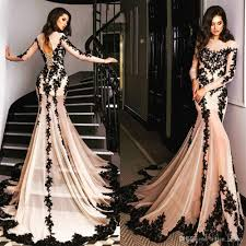 fitted blush pink lace prom dresses long sleeve chiffon party