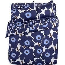 Marimekko Bed Linen - marimekko pieni unikko blue queen sheet set crate and barrel