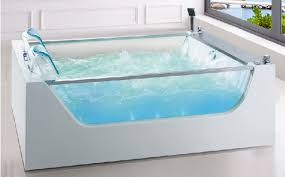 transparent bathtub sunrans double freestanding acrylic bathtub massage surf couple big
