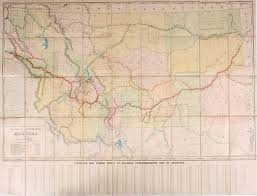 Map Of Montana by 1910 Railroad Commission Map Of Montana