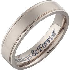 can titanium rings be engraved personalized men s titanium engraved beveled band walmart
