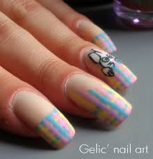 gelic u0027 nail art easter bunny pastel funky french
