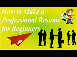Making A Professional Resume How To Create Write Or Build A Professional Resume Bio Data In