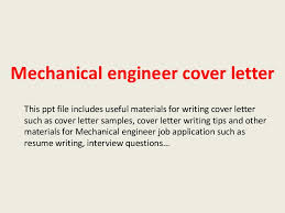 awesome collection of cover letter format for mechanical