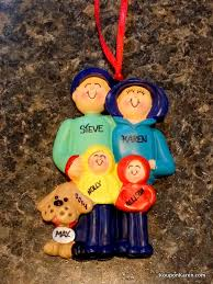 family ornaments with pets at ornaments with