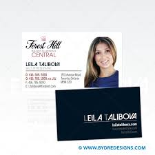 business card design u0026 print for leila talibova at forest hill