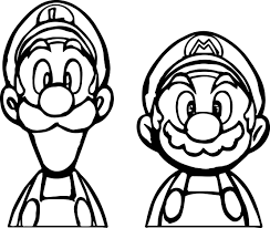 luigi coloring pages coloringsuite