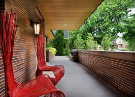 frank lloyd wright inspired home with lush landscaping this frank lloyd wright inspired house is framed by the organic