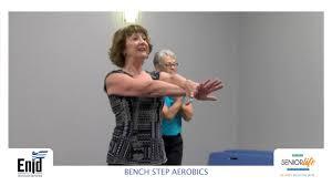 senior life network bench step aerobics youtube