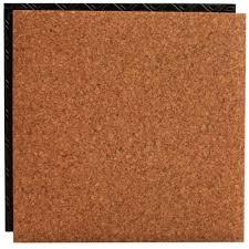 Cork Backed Vinyl Flooring Place N U0027 Go Cork 18 5 In X 18 5 In Interlocking Waterproof Vinyl