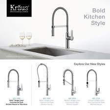 kraus mateo series kpf2620ss single lever pull down kitchen faucet kraus kpf1640ch nola single lever flex commercial style kitchen faucet in chrome