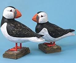 hanah wooden puffin ornament front facing co uk kitchen