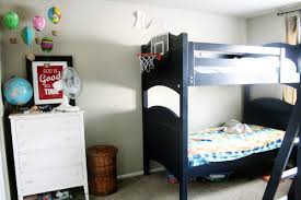 Black Wooden Bunk Beds Appealing Bunk Bed Decorating Ideas Bedroom Splendid Boys Bedroom