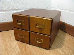 vintage wooden card index filing cabinet ebay