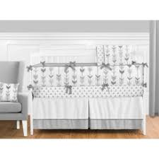 All White Crib Bedding Neutral Baby Bedding Modernnursery