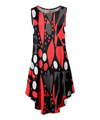 abstract pattern sleeveless dress lily red black abstract sleeveless dress women plus zulily
