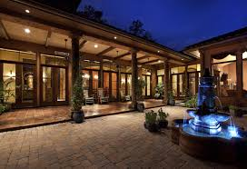 house plans with outdoor living outdoor living hacienda style house plans house style design