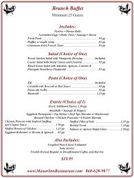 brunch wedding menu restaurant brunch southington manor inn