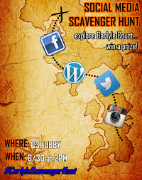 tomorrow social media scavenger hunt nyu carlyle court