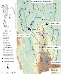 world river map image 2 map of the chao phraya river basin