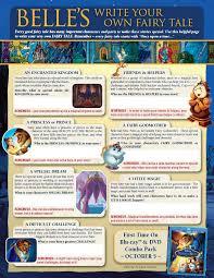 beauty beast create story printables kids