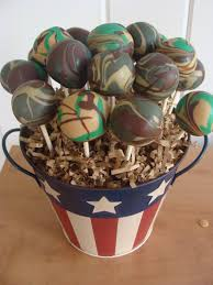 hunting or fishing camo cake pop from facebook com ambers