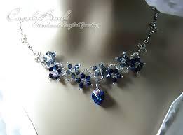 blue crystal necklace swarovski images Crystal necklace swarovski necklace glass by candybead on zibbet jpg